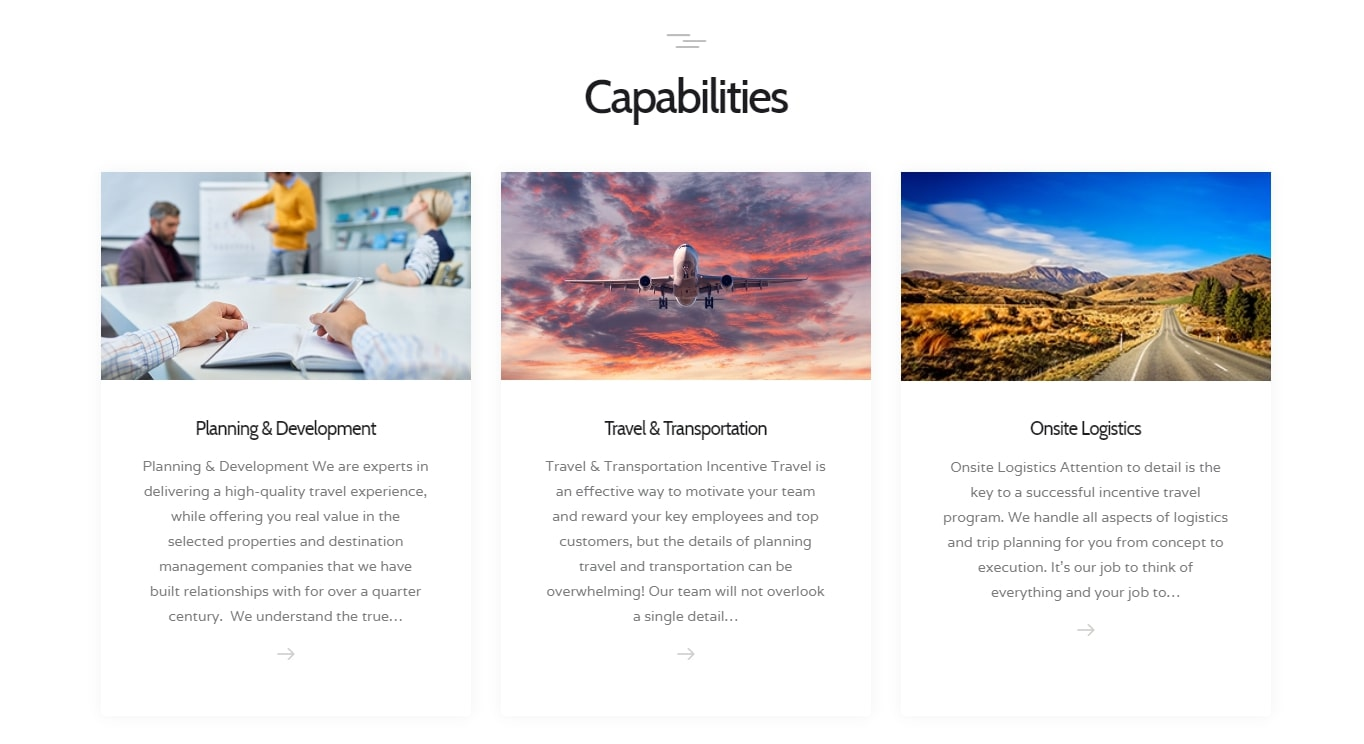 incentive travel house capabilities