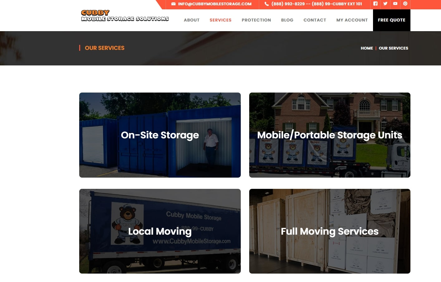 cubby mobile storage services