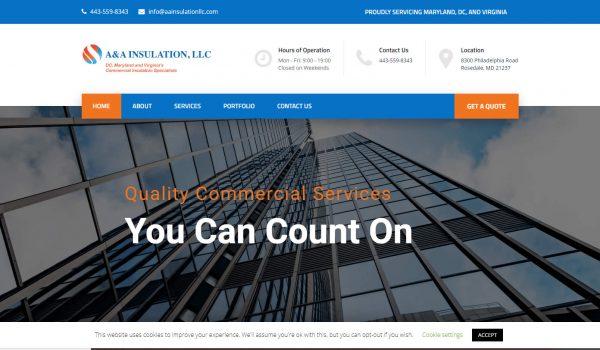 a&a insulation new website